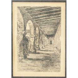 H.J. Brothers Engraved Print on Paper San Juan