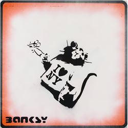 Banksy British Pop Painted Reflective Sign