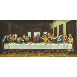 The Last Supper Oil on Canvas by Miguel