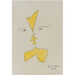 Jean Cocteau French Modern Ink on Paper
