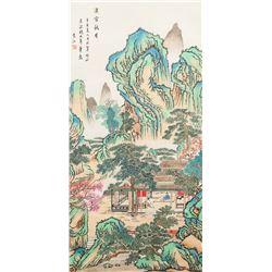 Yuan Jiang 1662-1735 Chinese Watercolor Landscape