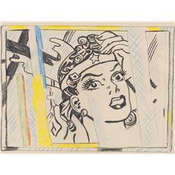Roy Lichtenstein US Pop Mixed Media Paris Gallery