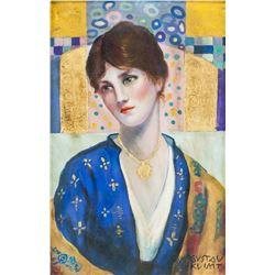 Gustav Klimt Austrian Oil on Canvas GALERIE RENOU
