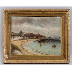 John Williamson 1826-1885 American Harbor Scene