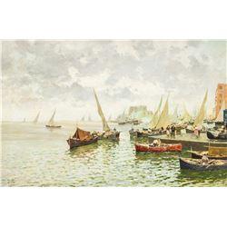 Romolo Leone 1883-1958 Italian Oil on Canvas