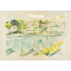 Alfred Birdsey 1912-1996 Bermuda WC on Paper