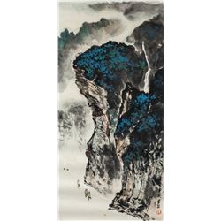 Wei Zixi 1915-2002 Chinese Watercolor Landscape