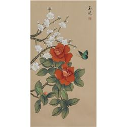 Chinese Watercolor Flower and Birds