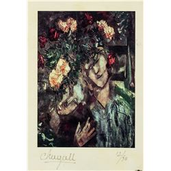 Marc Chagall French Surrealist Signed Litho 12/50