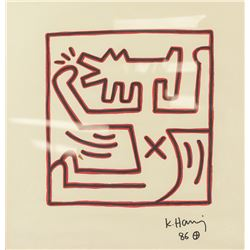 Keith Haring American Pop Marker on Paper