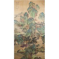 Gu Fuzhen 1635-1718 Chinese Watercolor Scroll
