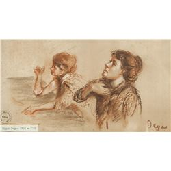 Edgar Degas French Impressionist Pastel on Paper