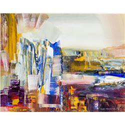Oleg Nedoshytko b. 1950 Oil on canvas Abstract