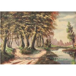 J. Rierisuyk European Oil on Canvas Landscape