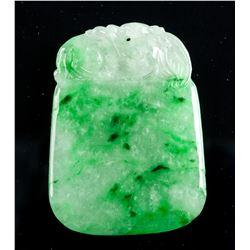 Fine Emerald Green Jadeite Pendant of Fruit