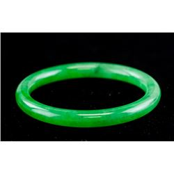 Burma Green Jadeite Bangle Grade A GIA Certificate