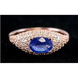 Chinese Sterling Silver Sapphire Ring