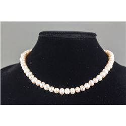 Chinese 925 Silver Pearl Necklace