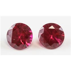 1.95ct Round Cut Pink Red Ruby Gem GGL COA