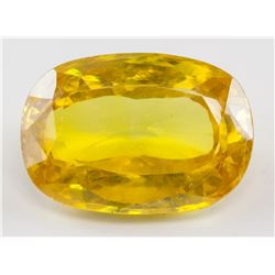 25.77ct Oval Cut Gold Yellow Sapphire Gem
