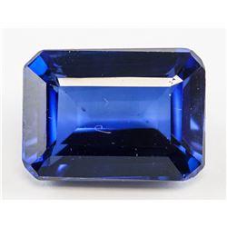 9.90ct Emerald Cut Blue Sapphire Gem GGL Certifica