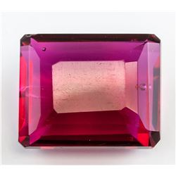 94.2ct Emerald Cut Red Tourmaline Gem GGL Certific