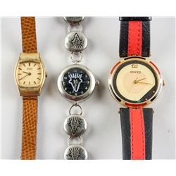 3 Assorted Gucci Seiko and Fido Dido Watches