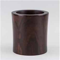 Chinese Wood Carved Brush Pot