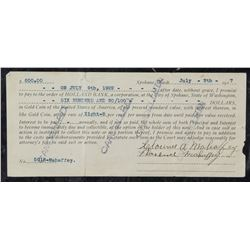 1917 United States Promissory Note Holland Bank