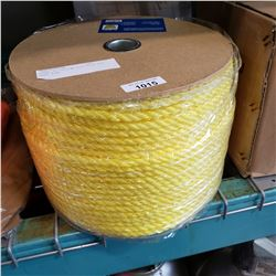 SPOOL OF YELLOW POLY ROPE 630 FEET 3/8""