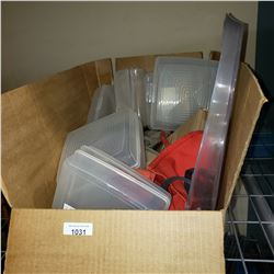 BOX OF CLAMSHELL CASES, TOOL BELT