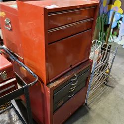 RED ROLLING 2 PIECE TOOL CHEST WITH CONTENTS