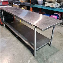 7FT STAINLESS STEEL PREP TABLE