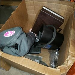 BOX OF LOST PROPERTY ITEMS AND BOX OF LOST PROPERTY TOOLS