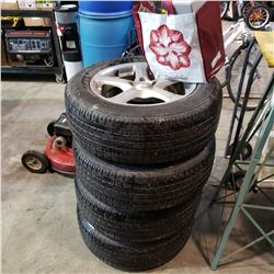 SET OF 4 ALL SEASON TIRES AND CHAINS FIRESTONE 235/ 60 R17