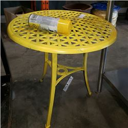 METAL PATIO END TABLE