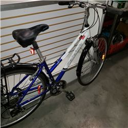 RALEIGH SPORT BLUE AND WHITE BIKE