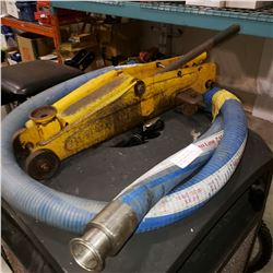 GREENLINE 10 BAR 150PSI DISCHARGE HOSE AND YELLOW FLOOR JACK