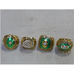 4 NEW REPRO GREENBAY PACKERS SUPERBOWL RINGS