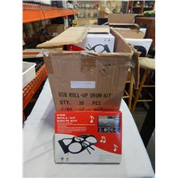 CASE OF ROLL UP USB DRUM MATS