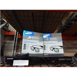 SAMSUNG 3D BLURAY PLAYER W/ 2 PAIRS SAMSUNG 3D ACTIVE GLASSES