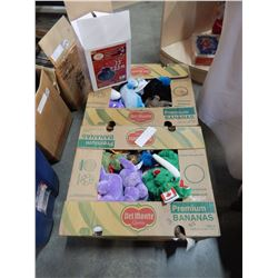 2 BOXES OF VARIOUS WISH PET TOYS