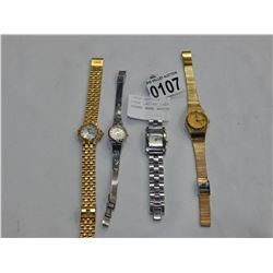 FOUR LADIES LOST PROPERTY BRAND NAME WATCHES