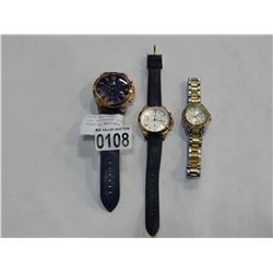 LOT OF THREE LOST PROPERTY FOSSILL WATCHES