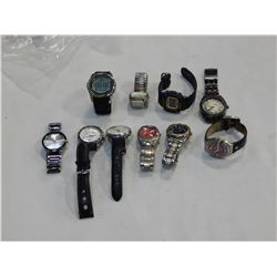 LOT OF TEN BRAND NAME LOST PROPERTY WATCHES