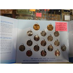 RCM VANCOUVER OLYMPICS 2010 COIN SET INCLUDING 3 COLORIZED QUARTERS