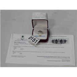 14KT WHITE GOLD BLACK AND WHITE .5CT DIAMOND RING W/ APPRAISAL $2205