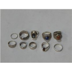 SMALL BAG OF STERLING RINGS