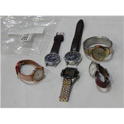 LOT OF 6 LOST PROPERTY TIMEX WATCHES