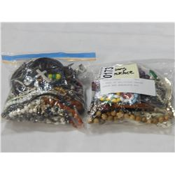 2 BAGS OF RELIGIOUS PRAYER BEADS AND BRACELETS ETC